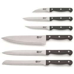 Fiskars Zestaw 5 noży w bloku czarnym FUNCTIONAL FORM 1014190
