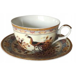 KAMELIA, Serwis obiadowo-kawowy z wazą 108el. - Chodzież Ćmielów